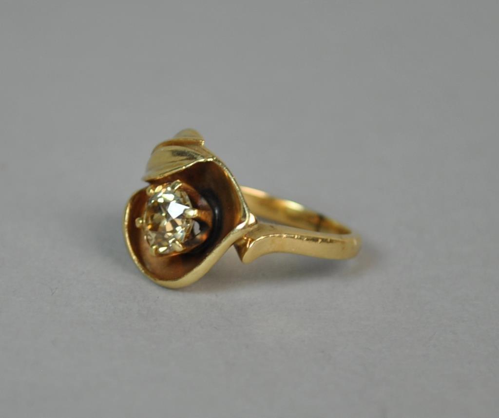 CANARY DIAMOND SOLITARE RING, 0.90CT