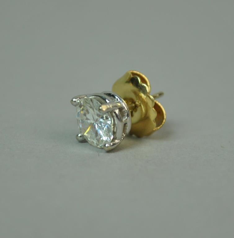 SINGLE 1.50 CARAT DIAMOND STUD EARRING