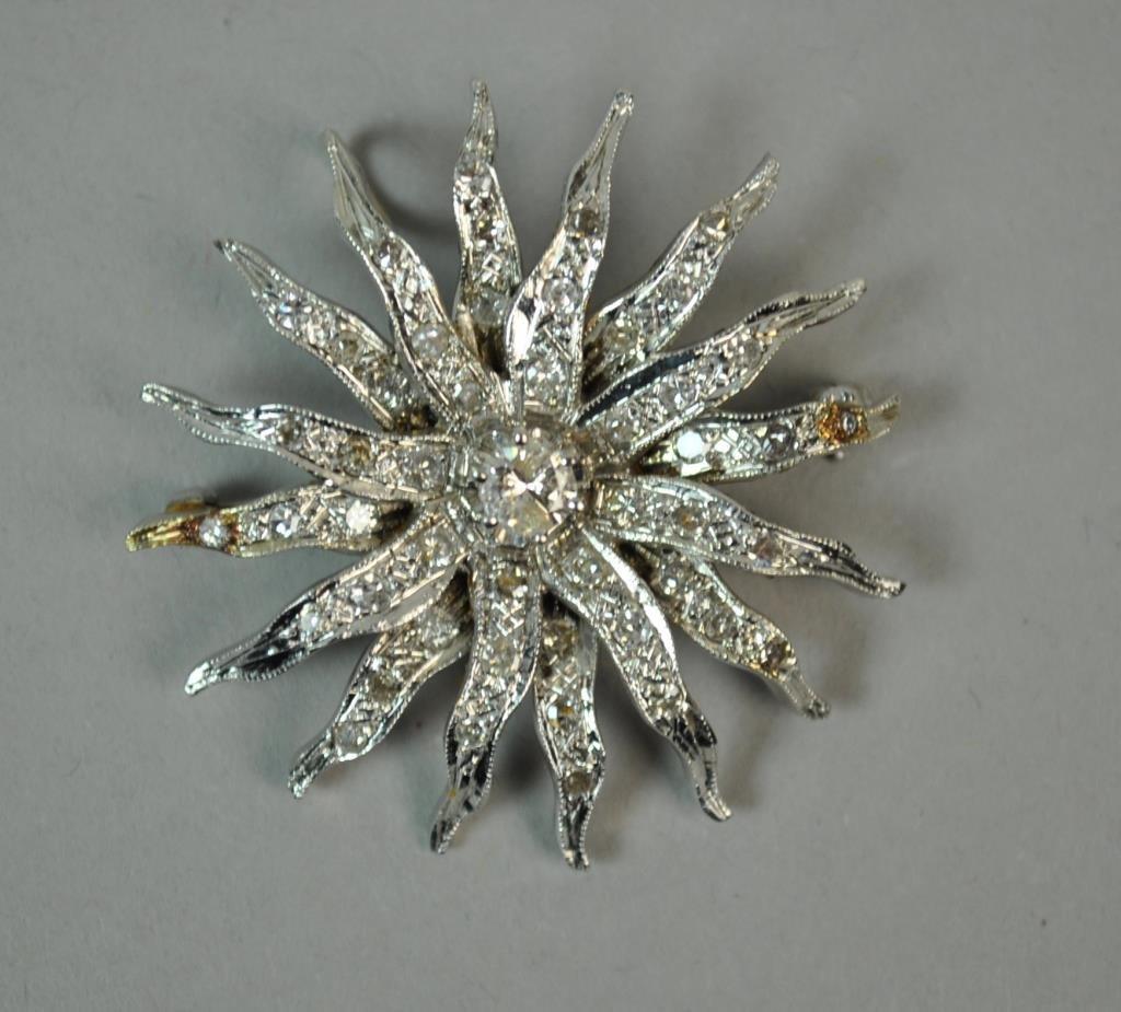 DIAMOND SUNBURST PIN PENDANT, 1.25CTW