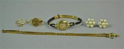 5 PIECE GOLD JEWELRY GROUP