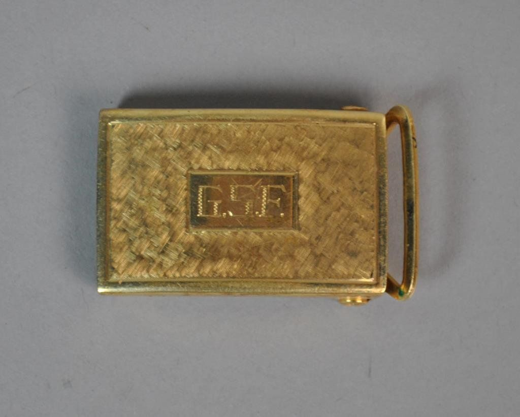 14K YELLOW GOLD BUCKLE