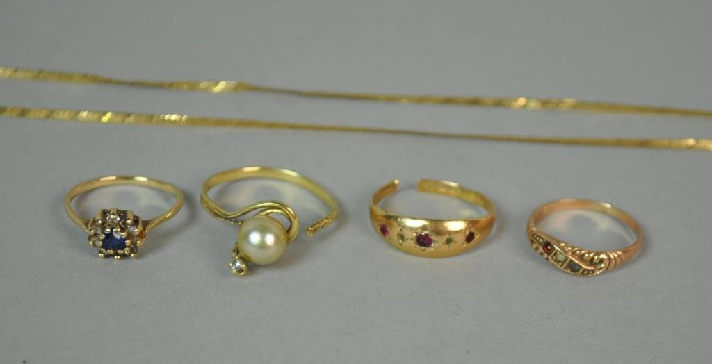(5) PIECE GOLD ESTATE JEWELRY GROUP