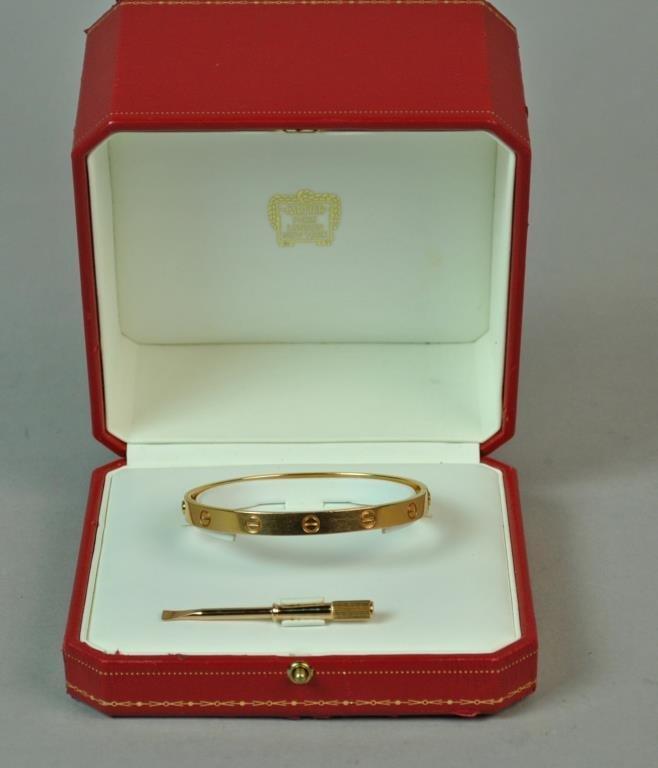 CARTIER 18K ROSE GOLD LOVE BRACELET