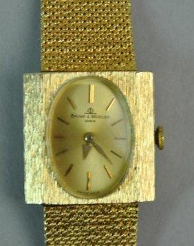Gents Baume & Mercier Gold Bracelet Watch