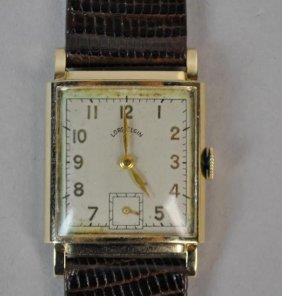 Gents Lord Elgin Gold Case Wrist Watch