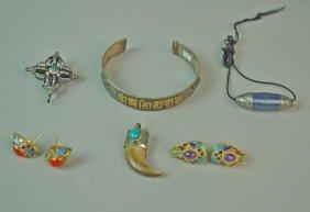 (6) Piece Silver & Gemstone Jewelry Group