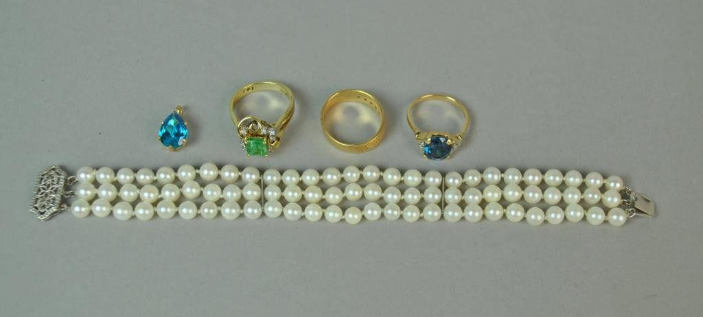 (5) PIECE GOLD JEWELRY GROUP