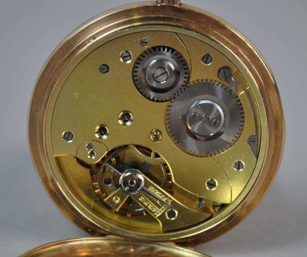 GENTS SWISS 14K GOLD POCKET WATCH - 2