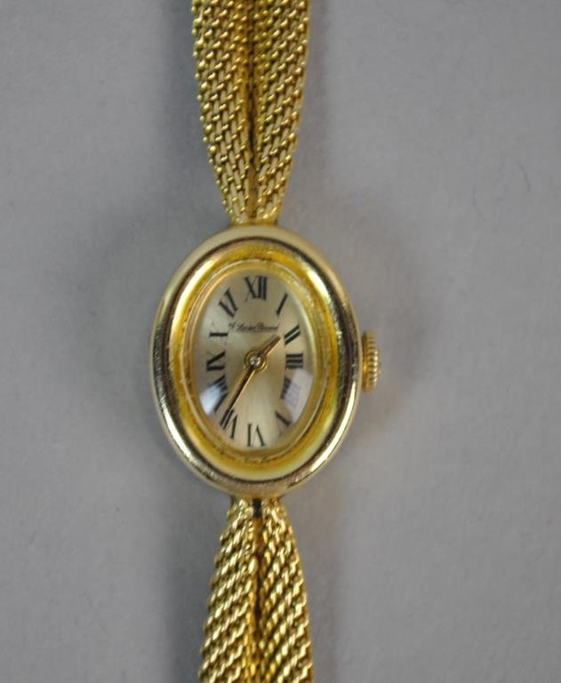 LADIES LUCIEN PICCARD GOLD BRACELET WATCH