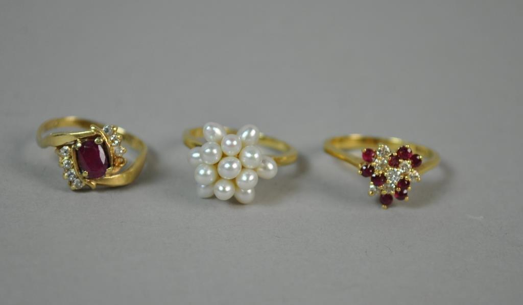(3) GOLD RINGS