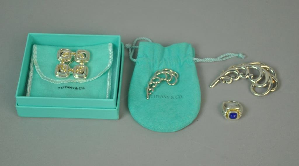 (4) PIECE TIFFANY STERLING JEWERLY GROUP