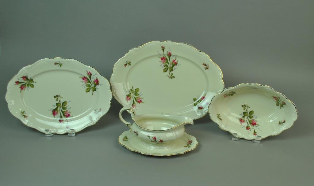(96) PIECE ROSENTHAL MOSS ROSE CHINA SERVICE - 3