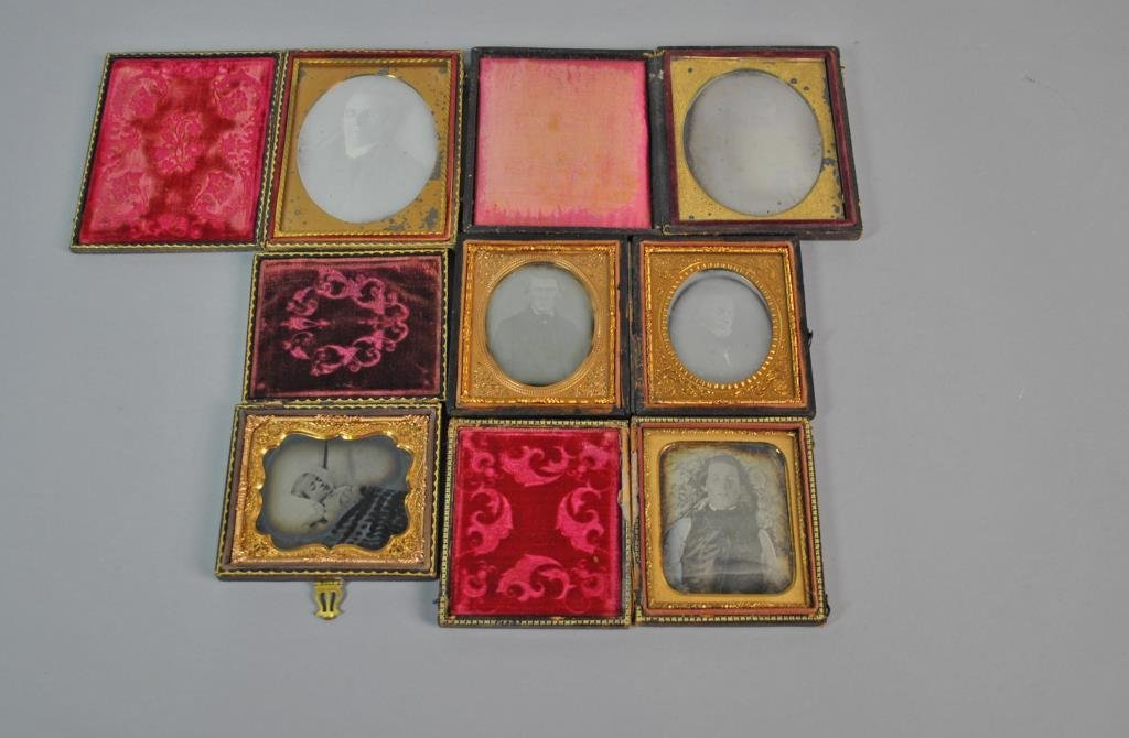 (5) POST MORTEM DAGUERREOTYPES & AMBROTYPES
