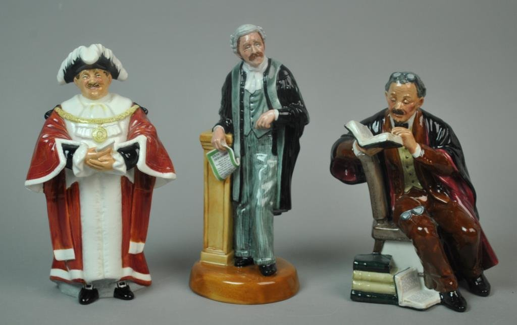 (3) ROYAL DOULTON PROFESSIONAL FIGURINES