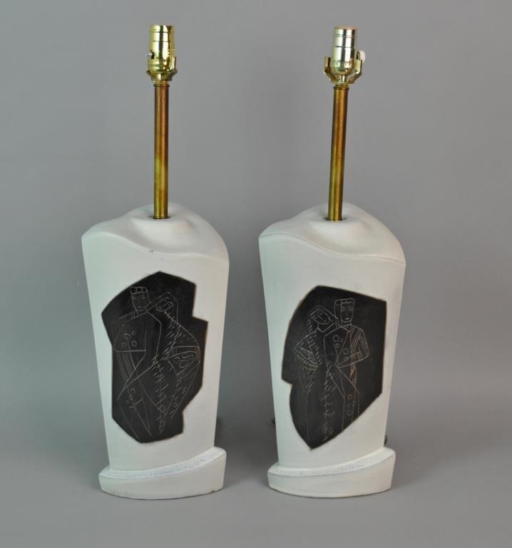 PAIR OF MARIANNA VON ALLESCH TABLE LAMPS - 2