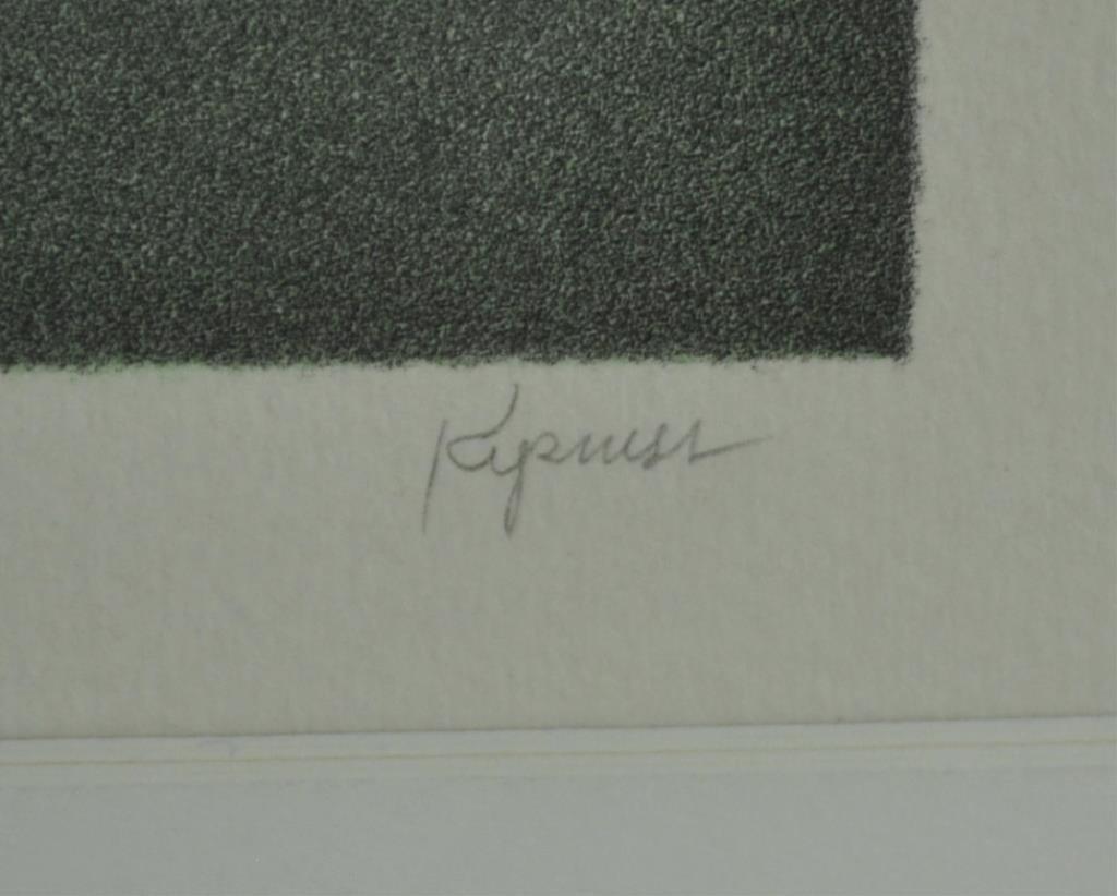 ROBERT KIPNESS LITHOGRAPH - BALUSTRADE - 3