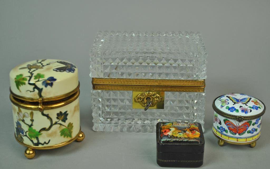 (4) VANITY BOXES