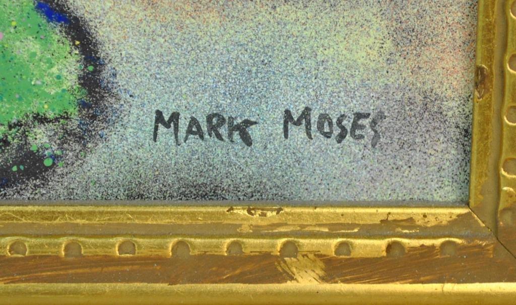 MARK MOSES ENAMEL ON COPPER - STREET SCENE - 3