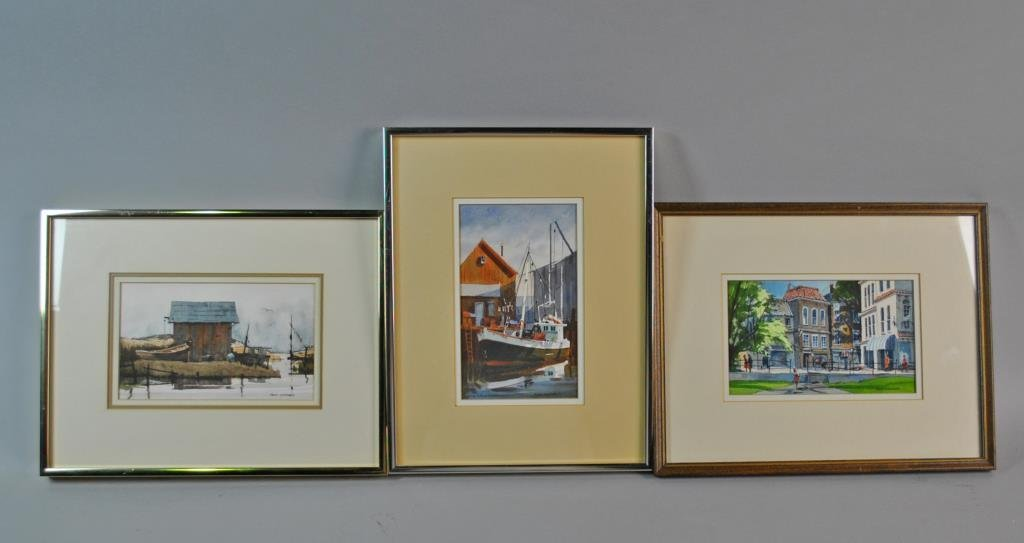 (4) WATERCOLORS SIGNED FRANK LUNDGREN
