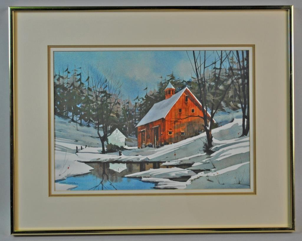 (4) WATERCOLORS SIGNED FRANK LUNDGREN - 2