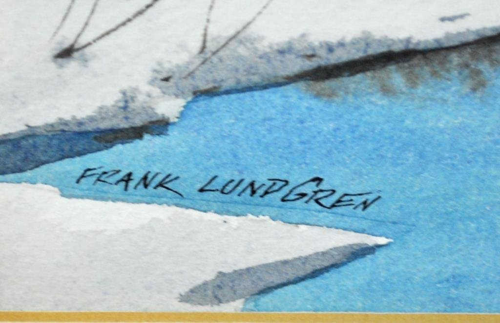 (4) WATERCOLORS SIGNED FRANK LUNDGREN - 3