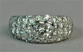 BULGARI 18K HEART SHAPED DIAMOND RING, 1.86CTW