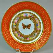 FRENCH SEVRES PLATE FROM THE 'SERVICE MARLY ROUGE'