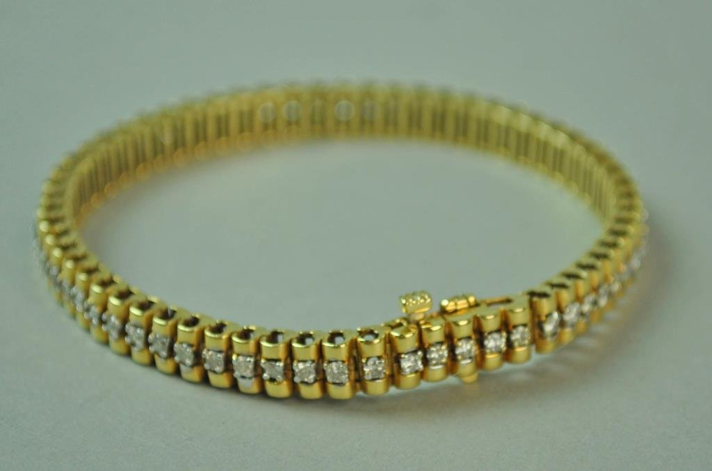 GOLD & DIAMOND LINK BRACELET, 1.86CTW - 2