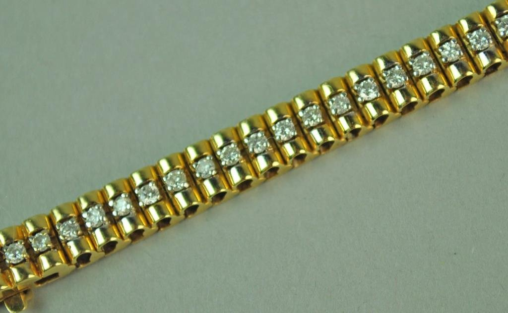GOLD & DIAMOND LINK BRACELET, 1.86CTW - 3
