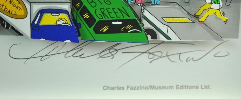 CHARLES FAZZINO 3-D SERIGRAPH - 3