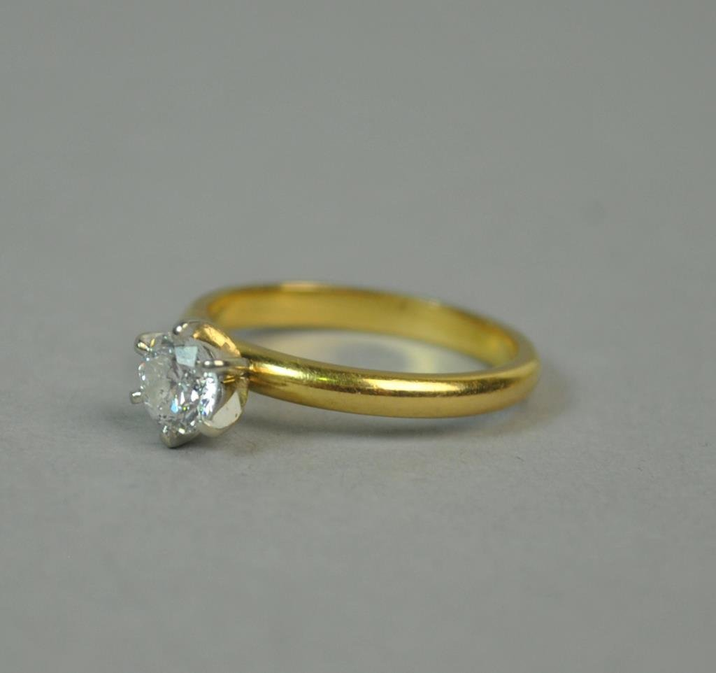 18K DIAMOND ENGAGEMENT RING, 0.55CT - 2