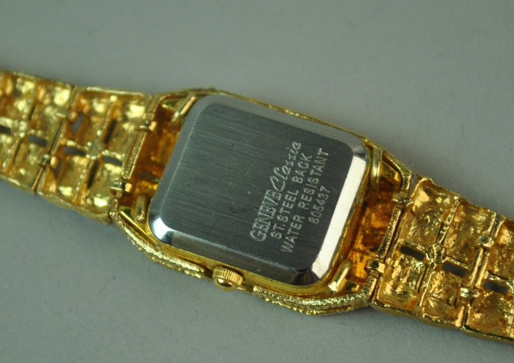 GENEVE CLASSIC GOLD BRACELET WATCH - 3