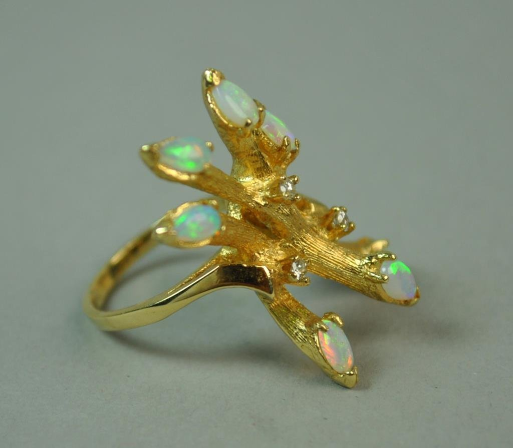 OPAL & DIAMOND FANCY RING