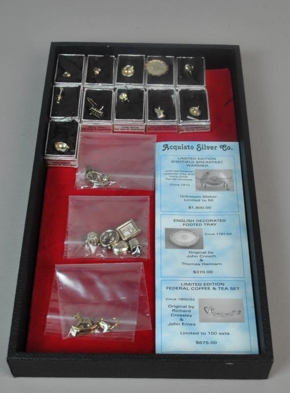 (21) STERLING MINIATURES, MOST BY ACQUISTO