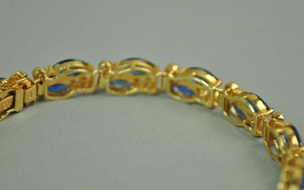 DIAMOND & BLUE STONE BRACELET - 3