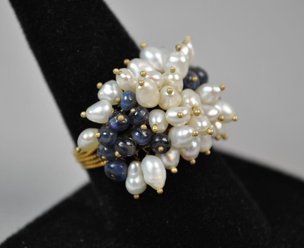 GOLD & SEED PEARL RING