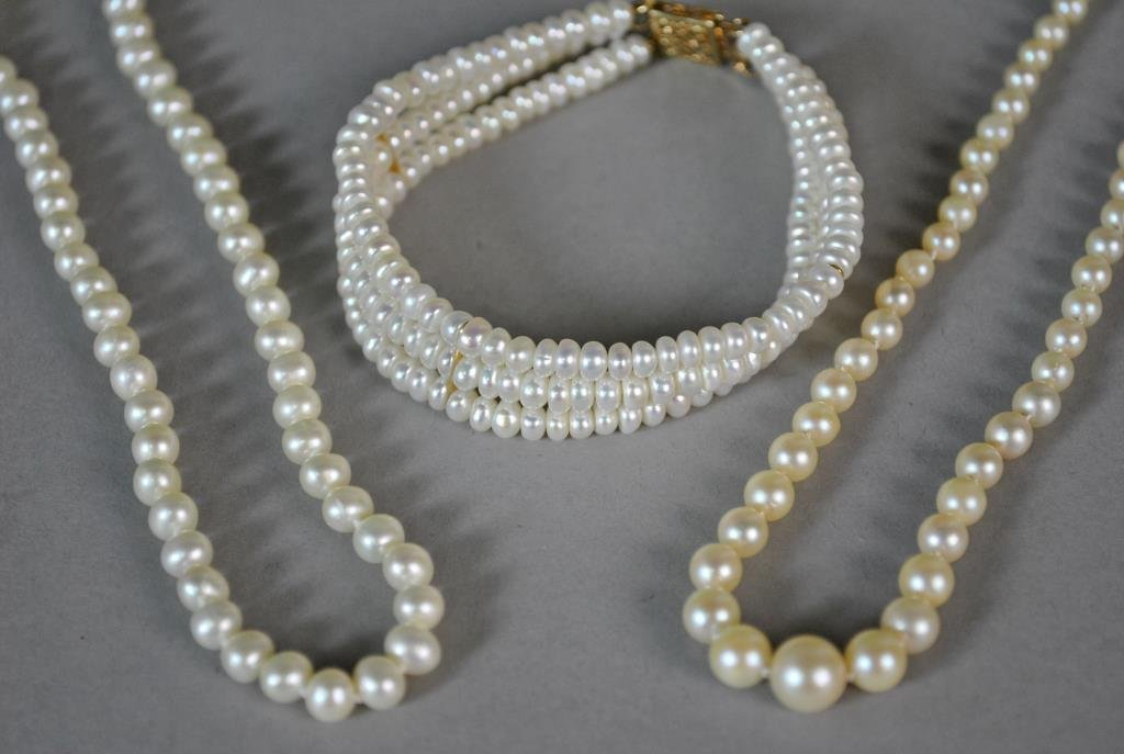 (3) GOLD & PEARL JEWELRIES
