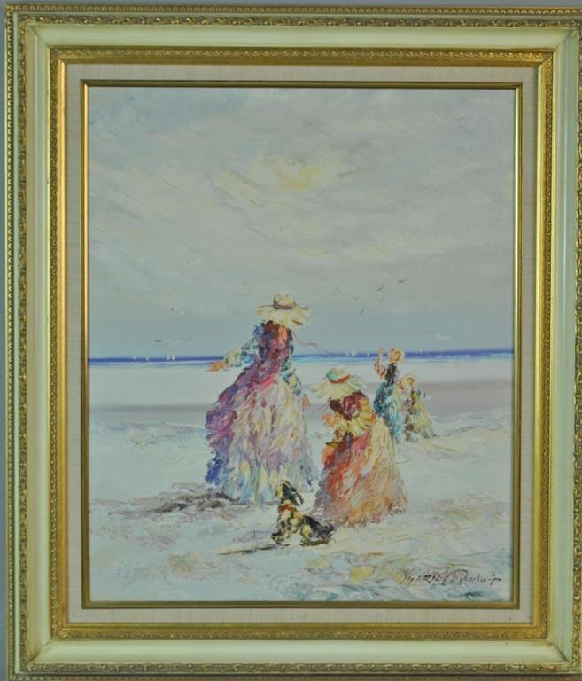 MARIE CHARLOT SIGNED OIL ON CANVAS