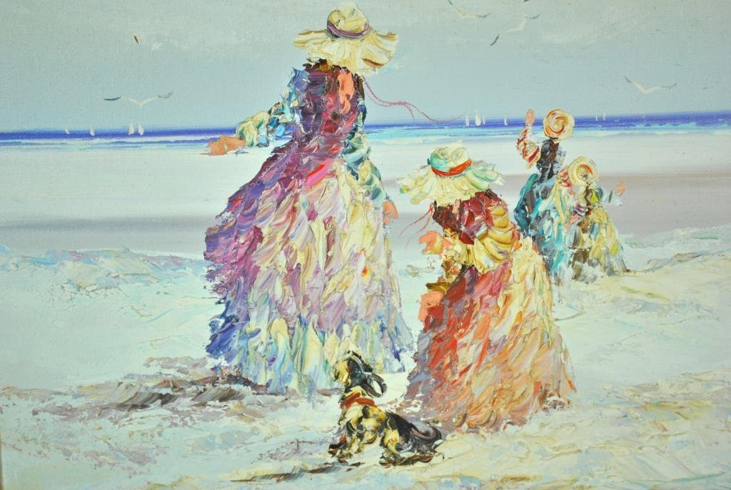 MARIE CHARLOT SIGNED OIL ON CANVAS - 3