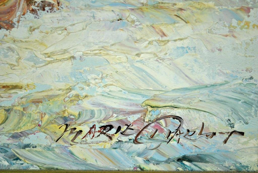 MARIE CHARLOT SIGNED OIL ON CANVAS - 5