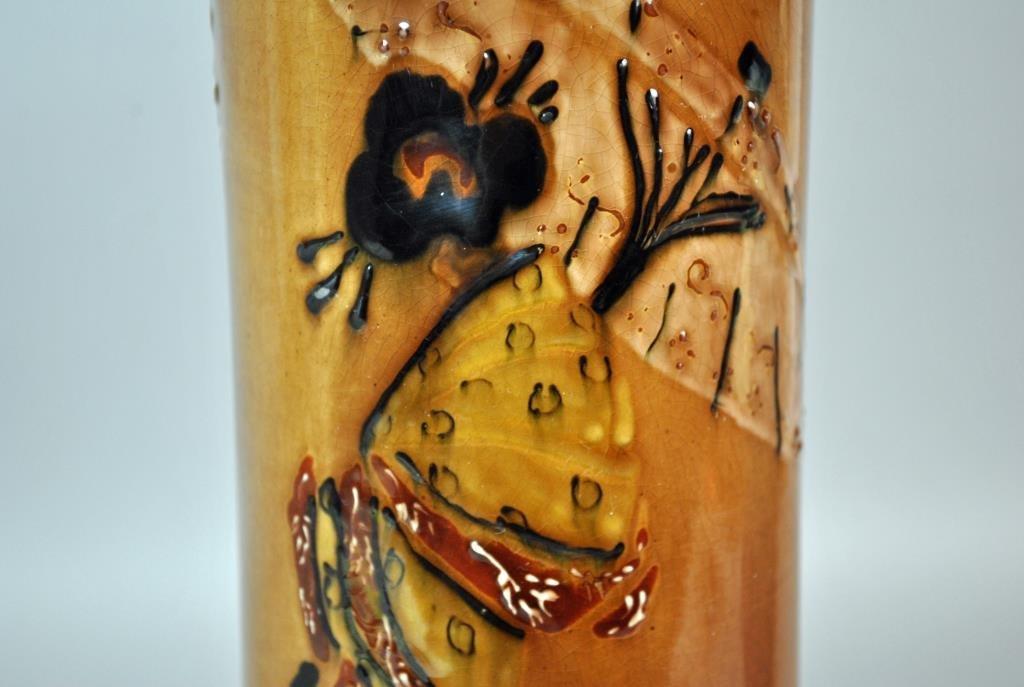 WELLER JAP BIRDIMAL ART POTTERY VASE - 2