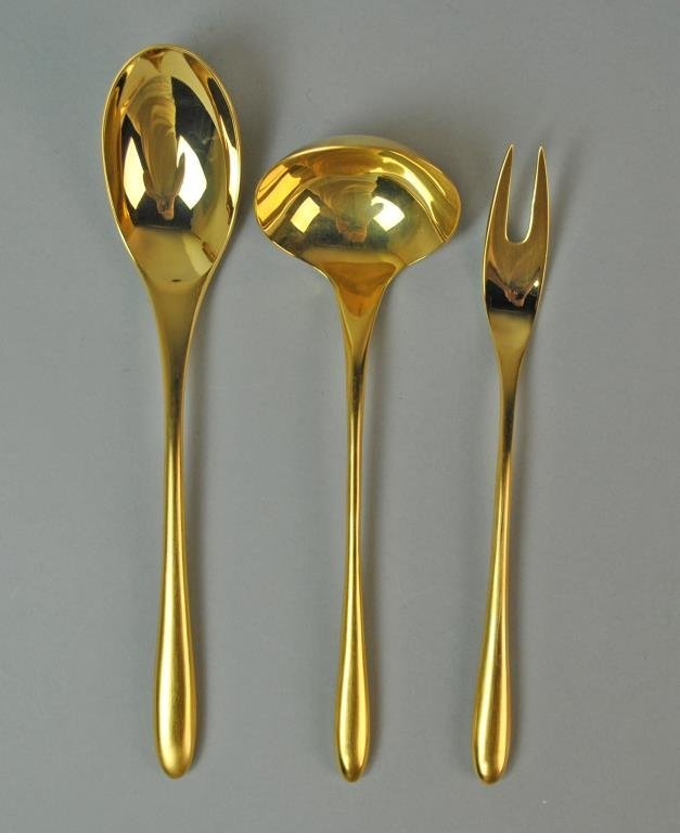 (44) PIECE ROSENTHAL GOLD TAILLE FLATWARE SET - 2