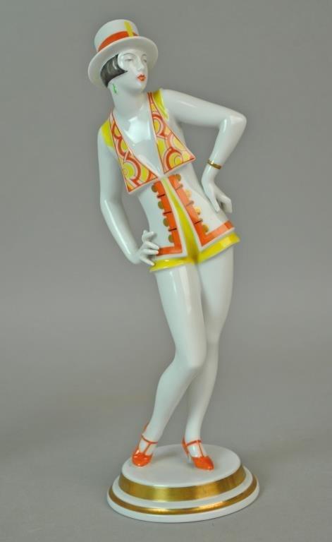 (2) ROSENTHAL ART DECO DANCING LADIES FIGURES - 3