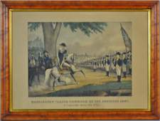 HISTORICAL CURRIER  IVES HAND COLORED LITHOGRAPH