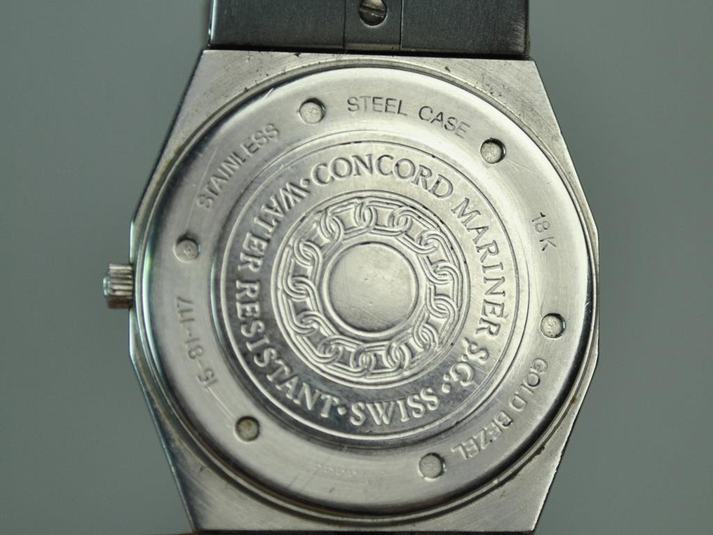 GENTS CONCORD MARINER WRISTWATCH WITH 18K BEZEL - 3