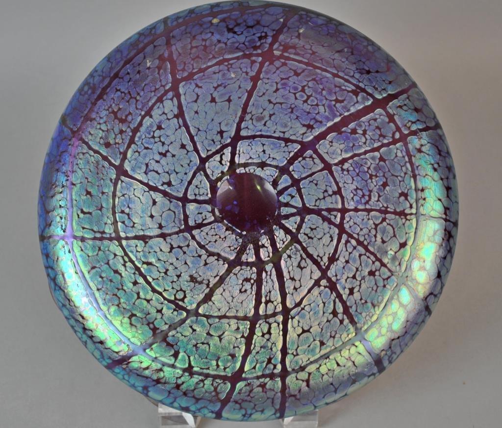 LOETZ ART GLASS IRIDESCENT AMETHYST BOWL - 3