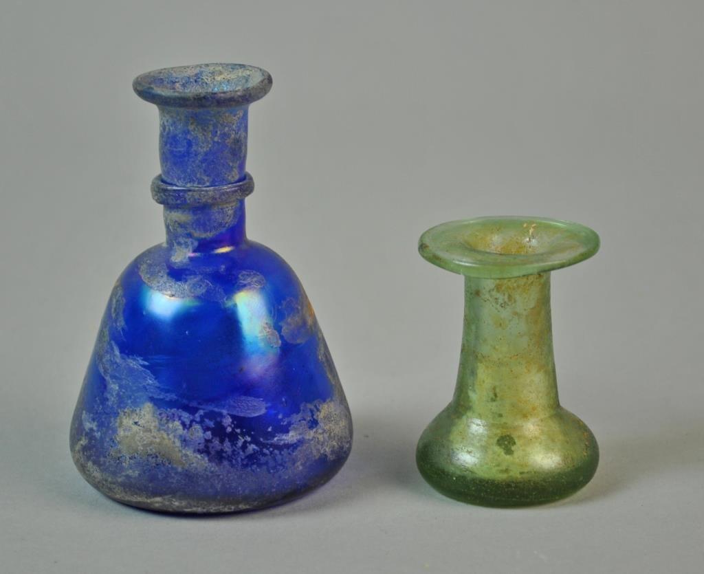 (2) ROMAN GLASS VESSELS