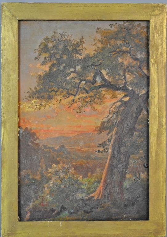 VINTAGE OIL PAINTING ON MILLBOARD