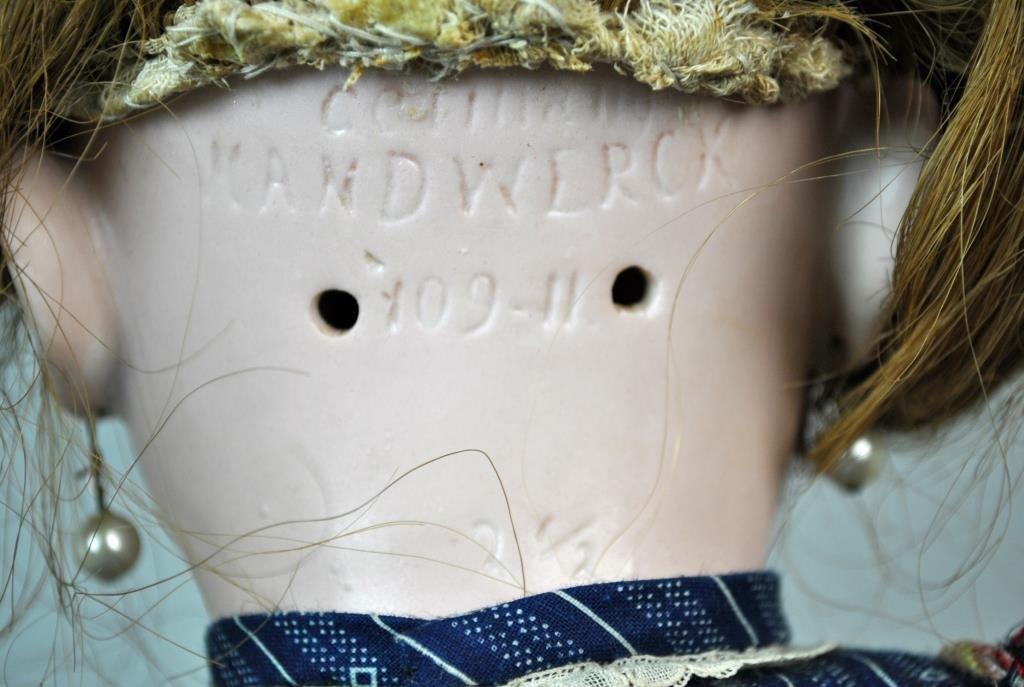 """20"""" HANDWERCK 109-11 BISQUE HEAD DOLL - 6"""