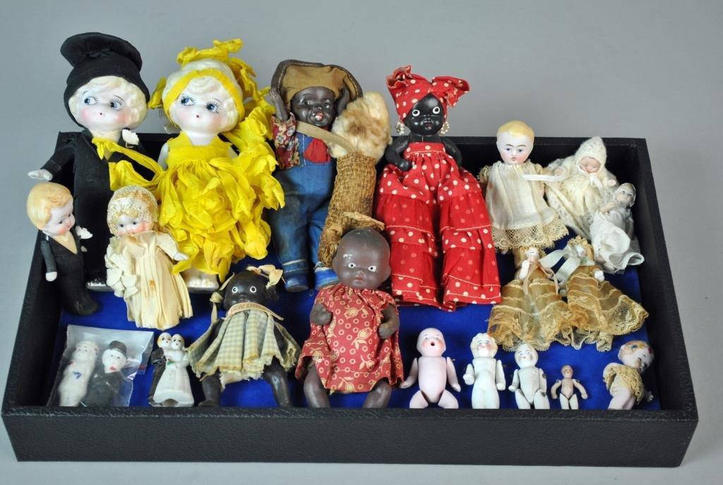 (21) ALL-BISQUE DOLLS